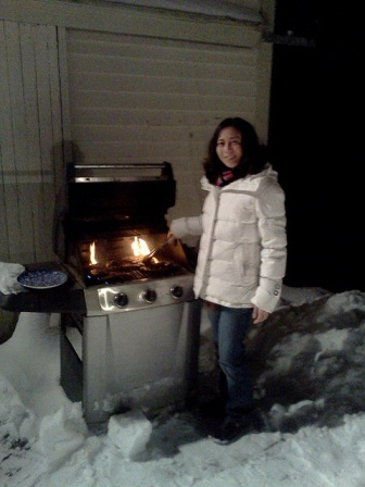 Me, grilling in the New Year!